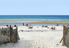 Mayflower beach in Dennis is popular with families with small children