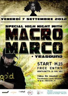 Serate a Milano: Macro Marco e Benny Page a 185slm!  FREE ENTRY!!! ;D