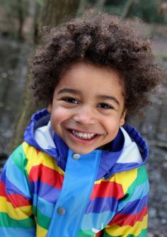 Kozi Kidz Rainbow Fleece Lined Coat
