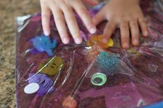 Cute idea - aquarium sensory bag
