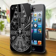 Star Wars Millenium Falcon 451K - iPhone Case iPhone 4 Case iPhone 4S Case iPhone 5 Case iPhone 4 / 4S / 5 Case Hard Cover. $15.89, via Etsy.