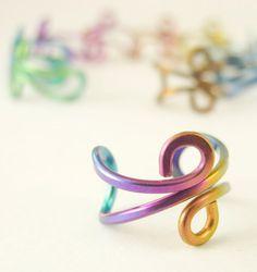 Niobium Ear Cuff - Rainbow Colored or You Pick by CreatingUnkamen - Jewelry supplies - jewelry making - jewelry supply - diy jewelry