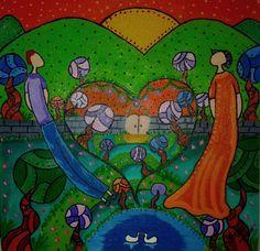 Um Jardim em meu coração- Pintura (Acrílica) - Juliano Silva