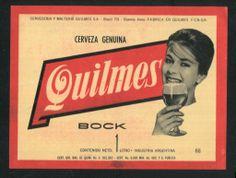 Publicidad retro, de cerveza Quilmes, Argentina.