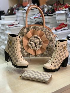 Luis Vuitton Shoes, Louis Vuitton Shoes Sneakers, Nike Fashion, Fashion Bags, Cute Shoes, Me Too Shoes, Jordan Outfits For Girls, Nike High Heels, Lv Boots