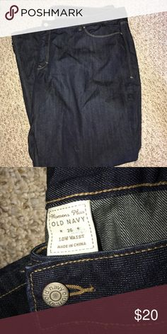 Old navy women's plus size 26 Jeans Old navy women's plus size 26 five Pocket dark indigo denim jeans, low waist boot cut style , New without tags never worn Old Navy Jeans Boot Cut