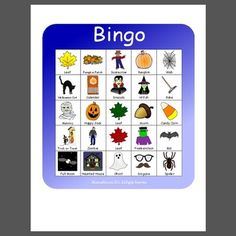 Fall Bingo - Pinned by @PediaStaff – Please Visit ht.ly/63sNtfor all our pediatric therapy pins