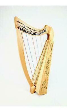 EMS Heather Harp Our Heather Harp is an inexpensive, but substantially built Celtic lever harp. It can be played on the lap, although for smaller players it would work better on a small table or stall due to its size. Harp, Ems, Celtic, Table, Emergency Medicine, Desk, Tabletop, Desks