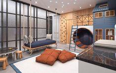 Cool Kids Bedrooms, Kids Bedroom Designs, Home Room Design, Kids Room Design, Cool Rooms, House Design, Kids Room Bed, Creative Kids Rooms, Modern Architecture House