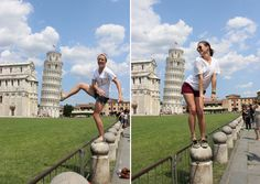 Take awesomely cheesy pictures in front of the Leaning Tower in Pisa. Add it to the bucket list.