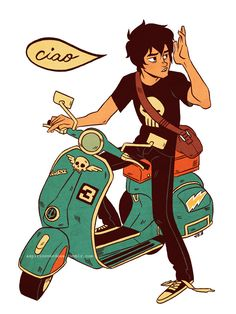 "aspirinoverdose: "" aspirinoverdose: "" aspirinoverdose: "" nothing else I can say.. "" reblogging after one year with a vespa sequel? "" CIAO! stickers are now available on my REDBUBBLE!! check 'em out~ """