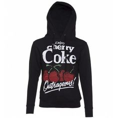 Women's Charcoal Enjoy Cherry Coke Hoodie ($43) ❤ liked on Polyvore featuring tops, hoodies, cherry coke hoodie, sweatshirt hoodies, cherry top, charcoal hoodie, charcoal grey hoodie and hooded sweatshirt