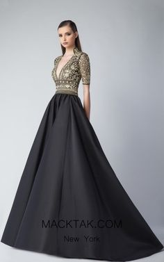 047edf3503b Edward Arsouni FW0239 Black Gold Front Dress Traditional Wedding Dresses