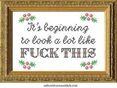 Thrilling Designing Your Own Cross Stitch Embroidery Patterns Ideas. Exhilarating Designing Your Own Cross Stitch Embroidery Patterns Ideas. Learn Embroidery, Cross Stitch Embroidery, Embroidery Patterns, Hand Embroidery, Knitting Patterns, Naughty Cross Stitch, Diy Broderie, Cross Stitch Quotes, Christmas Cross