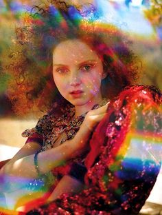 Lily Cole by Tim Walker for Vogue UK, July 2005 - Ananas à Miami