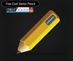 Realistic Yellow Vector Pencil - http://www.welovesolo.com/realistic-yellow-vector-pencil/