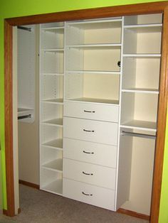 Classic kids closet, reach in closet, bedroom closet organizer, California Closets Twin Cities MN Side storage Make A Closet, Closet Redo, Boys Closet, Reach In Closet, Closet Remodel, Master Bedroom Closet, Closet Storage, Closet Organization, Closet Ideas