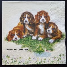 Hobby Shop, Craft Shop, Paper Napkins, Dogs And Puppies, Campaign, Crafts, Painting, Models, Medium