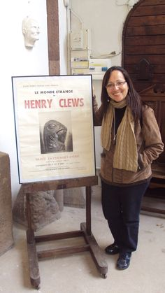 Leila ENGELS (née en 1969) peintre. Au Musée Henry Clews à La Napoule. (Photo: Thierry de Bruma)
