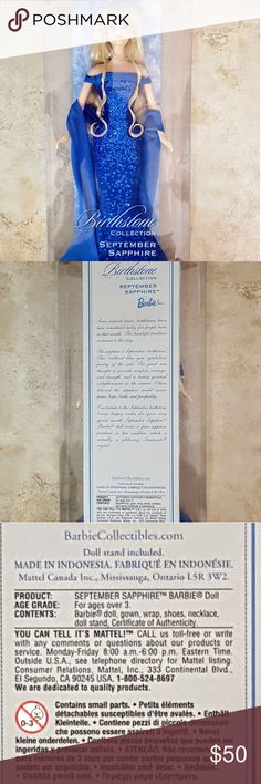 Collector Edition Birthstone Collection September Collector Edition Birthstone Collection September SAPPHIRE Barbie Doll in Box. Offers Welcome!! Bundle and Save!! Barbie Accessories