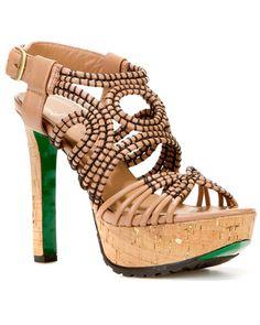 'Danisa' Leather Platform Sandal by Lisa Pliner