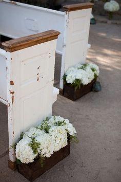 ceremony planter boxes