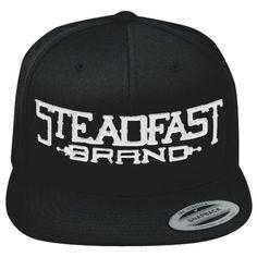 Inked Boutique - OW Steadfast Brand Logo Black/White Flat Brim Snapback Hat Ink Inked Tattooed Tattoo Lifestyle Brand http://www.inkedboutique.com