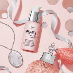 Say  to lines, and hello to your perfect holiday gift! Bye Bye Lines Serum truly turns back time with its anti-aging, wrinkle-smoothing miracle formula.