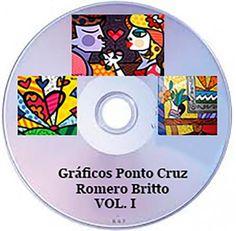 20 gráficos não repetidos de obras de Romero Britto em ponto cruz para quadros e tapeçaria de parede  Informações: ibarbieri@live.com   -   maonamassaatelier@gmail.com