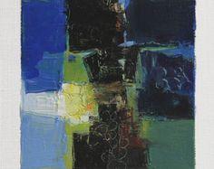 Se trata de una Original pintura al óleo abstracta por Hiroshi Matsumoto  Título: 09 de diciembre de 2015 Tamaño: 9,0 x 9,0 cm (aprox. 4 x 4) Al