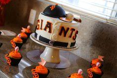 SF Giants baseball baby shower cake, SF Giants jersey baby boy cake