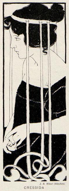 Cressida by JR Witzel for Jugend magazine, 1898