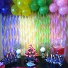 Awesome Creative Colorful Balloons And Decorative Papers For Baby Shower Wall Decor