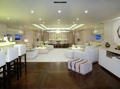 Home Decoration For Small House Product Luxury Yachts For Sale, Yacht For Sale, Interior Design Institute, Yacht Interior, Luxe Life, Yacht Design, Do It Yourself Home, Guest Suite, Living Room Inspiration