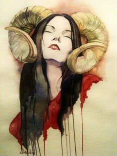 beautiful :) Aries Art, Zodiac Art, Art Sketches, Art Drawings, Arte Horror, Woman Drawing, Sketch Design, Dark Art, Art Inspo