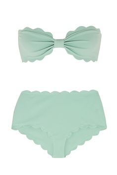 Marysia set the trend for all the scalloped swimwear that's cropping up these days. Their mint-colored bikini is a new addition to the family that comes in a soft stretch-crepe (AKA a refreshingly non-shiny swim option).