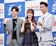 Korean TV drama Lets Fight Ghost press conference pictures starring TaecYeon, Kim So-Hyun Bring It On Ghost, Lets Fight Ghost, Korean Dramas, Korean Actors, Kwon Yool, Kim Sohyun, Taecyeon, Conference, Kdrama
