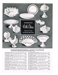 Westmoreland Milk Glass Advertisement