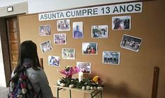 A memorial to Asunta Yong Fang Basterra Porto at her school in Santiago de Compostela Adopting A Child, Mother And Father, Parents, Photo Wall, Gallery Wall, Children, Frame, Home Decor, School