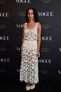 Zoe Kravitz en robe Balenciaga vogue paris soirée 95 ans http://www.vogue.fr/mode/inspirations/diaporama/la-soire-des-95-ans-de-vogue-paris/22911#zoe-kravitz-en-robe-balenciaga