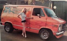 Custom VANS natural BABES & other bad ass transportation. Gmc Vans, Old School Vans, Vanz, Girls Slip, Vintage Vans, Custom Vans, Chevy Trucks, Van Life, Hot Cars