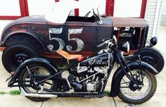 Hot Rod and bobber - so cool