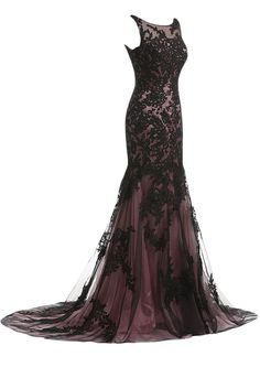 e6137b61ff Sunvary Vintage Black Lace Applique Mermaid Mother of the Bride Dresses  Long Formal Bridesmaid Prom Gowns. Lace Evening ...