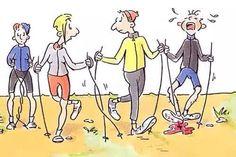 Nordic walking humour