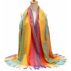 cotton bohemian style scarves stole shawl wrap scarf ($9.73) ❤ liked on Polyvore featuring accessories, scarves, orange, wrap scarves, wrap shawl, cotton shawl, summer shawl and cotton scarves