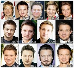 The Evolution of: Jeremy Renner the evolution like a planet!