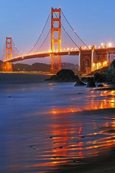 500px / Golden Gate: Golden reflections by KP Tripathi