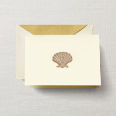 Hand Engraved Scallop Note
