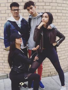The cast of Disney's The Lodge(Josh, Jayden, Bethan and Jade) Disney Channel, The Lodge Disney, Celebrity Quotes, Celebration Quotes, Best Friend Goals, Celebs, Celebrities, Logs, Squad