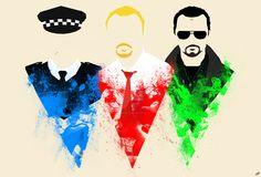 Top 10: Cornetto Trilogy Fan Art - Three Flavours Cornetto by Neil Butler